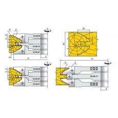 Фрези для стояків і перемичок фільончастих дверних полотен 03.08.ХХ - 2