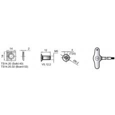 Фрезы насадные шейпер для плоского и криволинейного строгания по шаблону 13 - 4