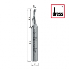 Фрезы концевые одноканальные для дренажных отверстий Dress - 2