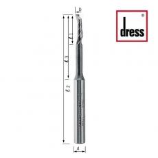 Фрезы концевые одноканальные с удлиненной горловиной для дренажных отверстий Dress - 3