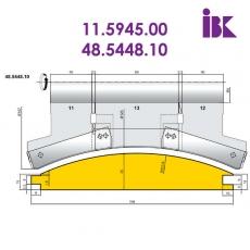 Фрезы для профилирования облицовочной доски типа блокхаус 11.5945.00, 48.5448.10 - 2