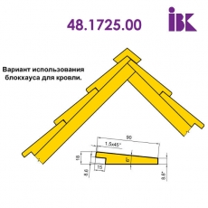 Фрезы для профилирования облицовочной доски типа блокхаус 48.1725.00