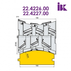 Фрези для профілювання облицювальної дошки типу блокхаус 22.4226.00, 22.4227.00 - 3