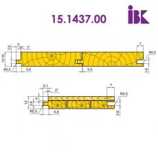 Комплект фрез для профілювання паркету  15.1437.00