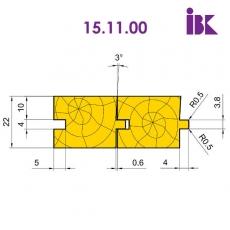 Комплект фрез для профілювання паркету (S=4mm)