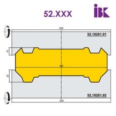 Комплект фрез для профілювання бруса 52.XXX