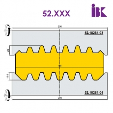 Комплект фрез для профілювання бруса 52.XXX - 2