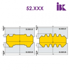 Комплект фрез для профілювання бруса 52.XXX - 3