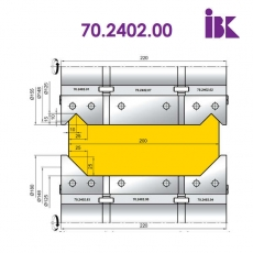 Комплект фрез для профілювання бруса 70.2402.00