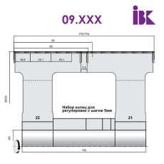 Комплект фрез для профилирования бруса 09.XXX - 2