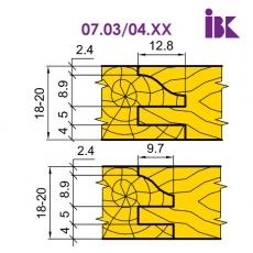 Комплект насадних фрез для виробництва меблевих фасадів 07.03/04.XX