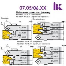 Комплект насадних фрез для виробництва меблевих фасадів 07.05/06.XX - 4