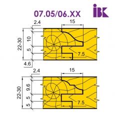 Комплект насадних фрез для виробництва меблевих фасадів 07.05/06.XX