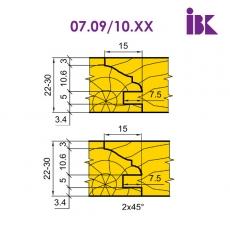 Комплект насадних фрез для виробництва меблевих фасадів 07.09/10.XX