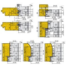 Комплект універсальних фрез для виготовлення дверної коробки - 5