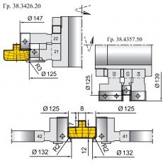 Комплект универсальных фрез для изготовления дверной коробки - 6