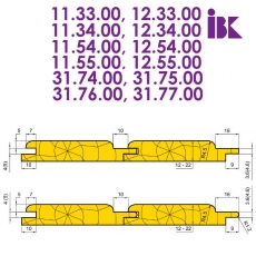 Комплекты фрез для профилирования радиусной вагонки