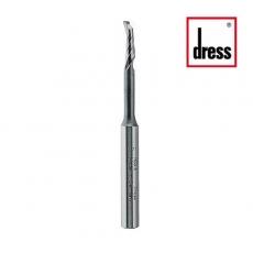 Фрезы концевые одноканальные с удлиненной горловиной для дренажных отверстий Dress