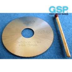 Пили дискові пазові прорізні по металу DIN 1837 A дрібний зуб HSS і VHM - 3