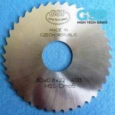 Пили дискові пазові прорізні по металу DIN 1838 B середній зуб HSS і VHM