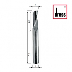 Фрези кінцеві двоканальні з пазами для дренажних отворів ступінчасті Dress - 2