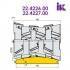 Фрези для профілювання облицювальної дошки типу блокхаус 22.4226.00, 22.4227.00
