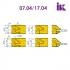 Комплект насадних фрез для виробництва меблевих фасадів 07.03/04.XX - 3